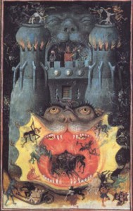 medieval painting of the Hellmouth